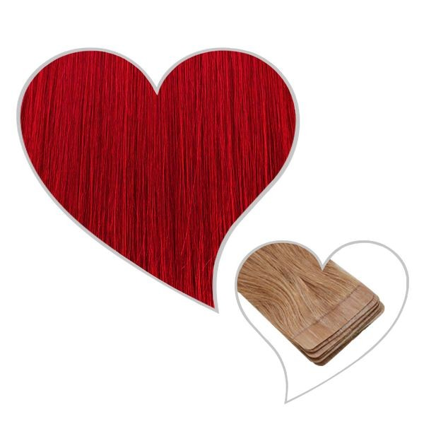 10 Tape-Extensions 35cm -rot