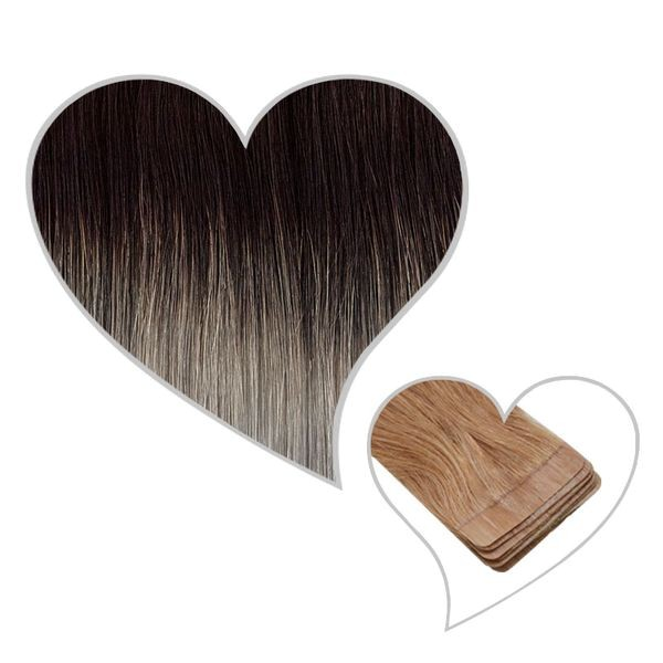 10 Tape-Extensions 45cm ombre-1B-HG