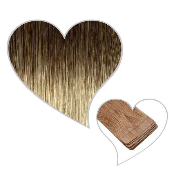 10 Tape-Extensions 45cm ombre-8B-615