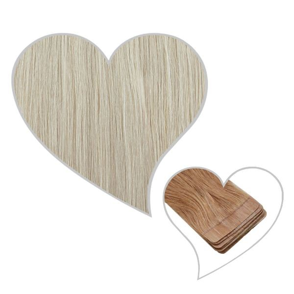 10 Tape-Extensions 60cm silver-white