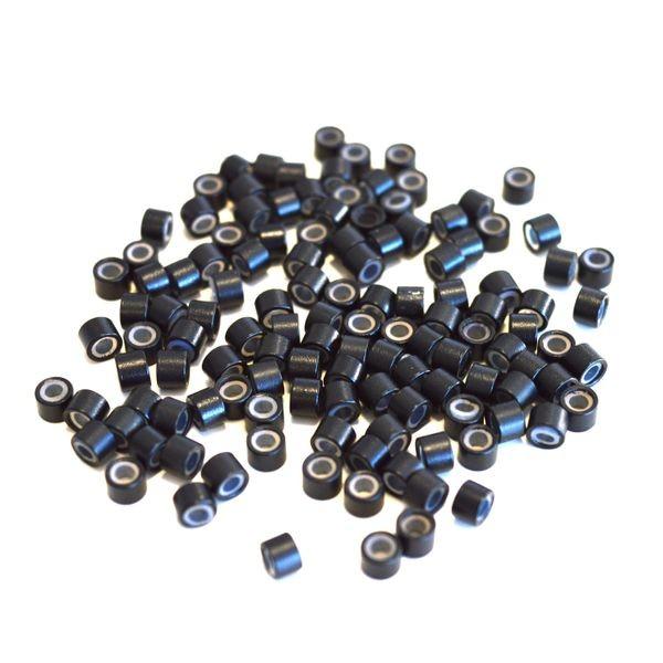 100 Microringe schwarz
