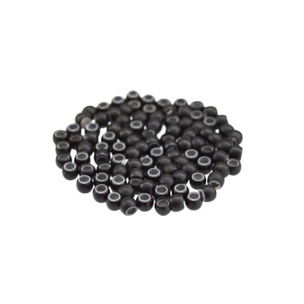 100 Nanoringe mit Silikon schwarz