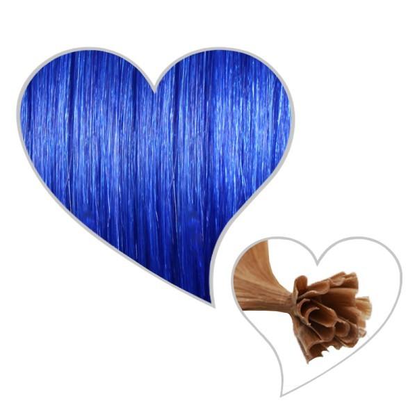 25 Strähnen 45cm -blau
