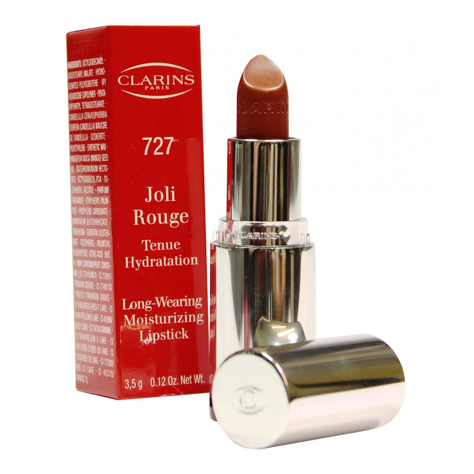 Clarins -Joli Rouge -Tenue Hydratation -Moisturizing - 727 gold plum Lippenstift