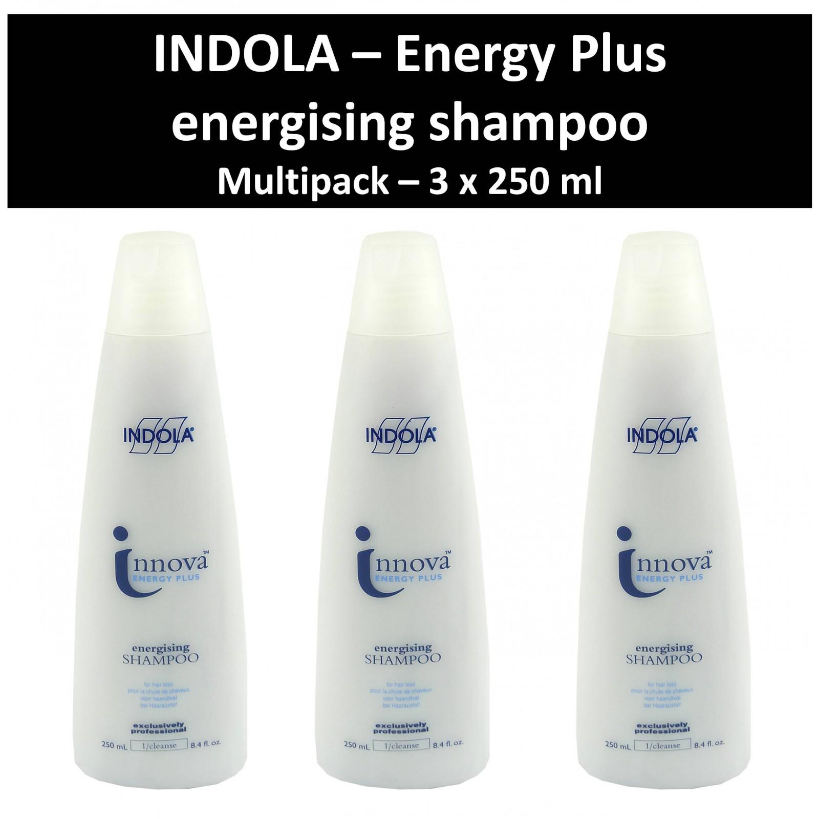 Indola - Innova Energy Plus - energising Shampoo - Haar Pflege Wäsche 3x250 ml