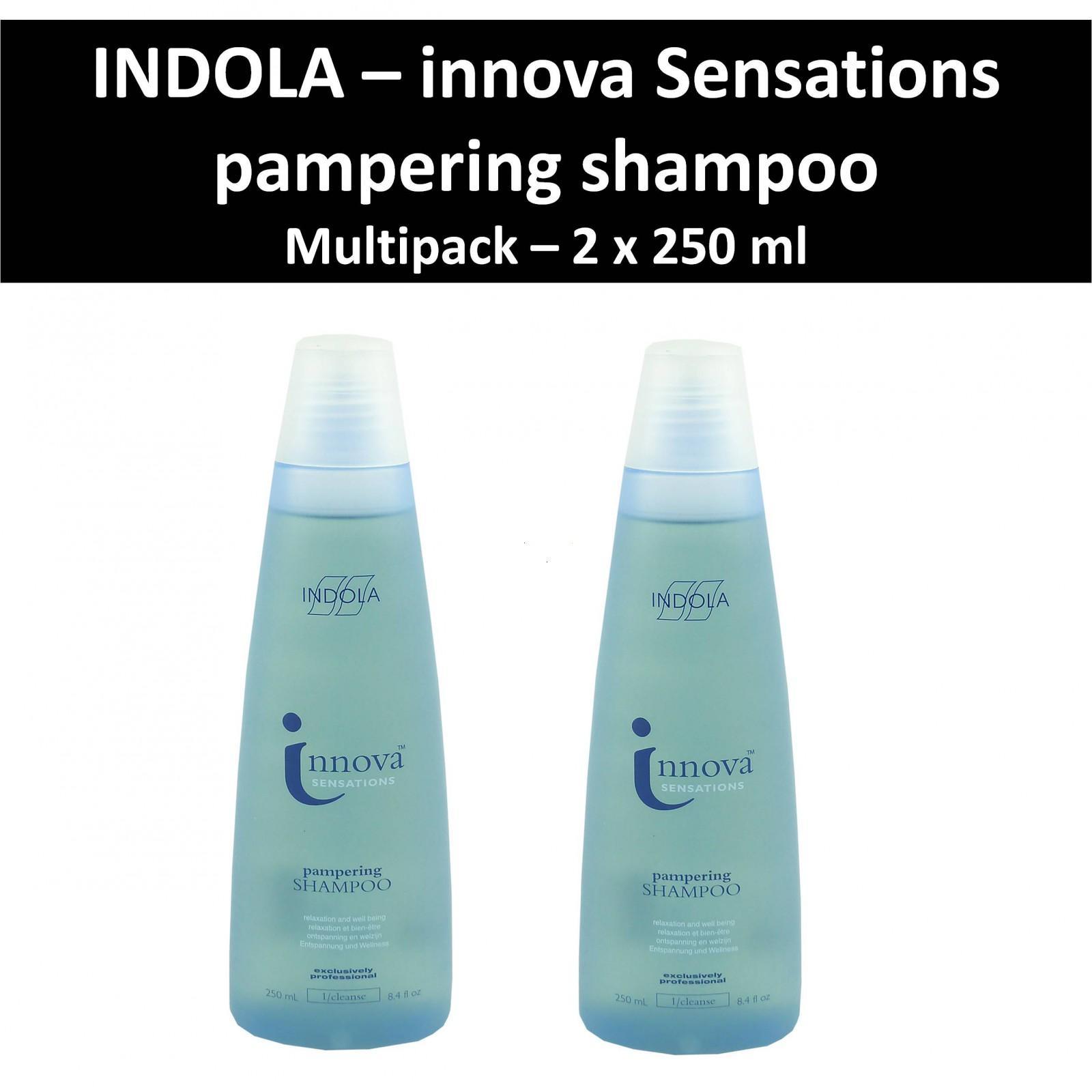 Indola - Innova Sensations - Pampering Shampoo - Haar Pflege Wäsche - 2x250 ml