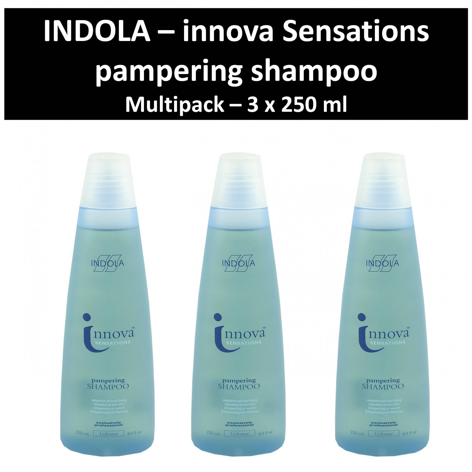 Indola - Innova Sensations - Pampering Shampoo - Haar Pflege Wäsche - 3x250 ml