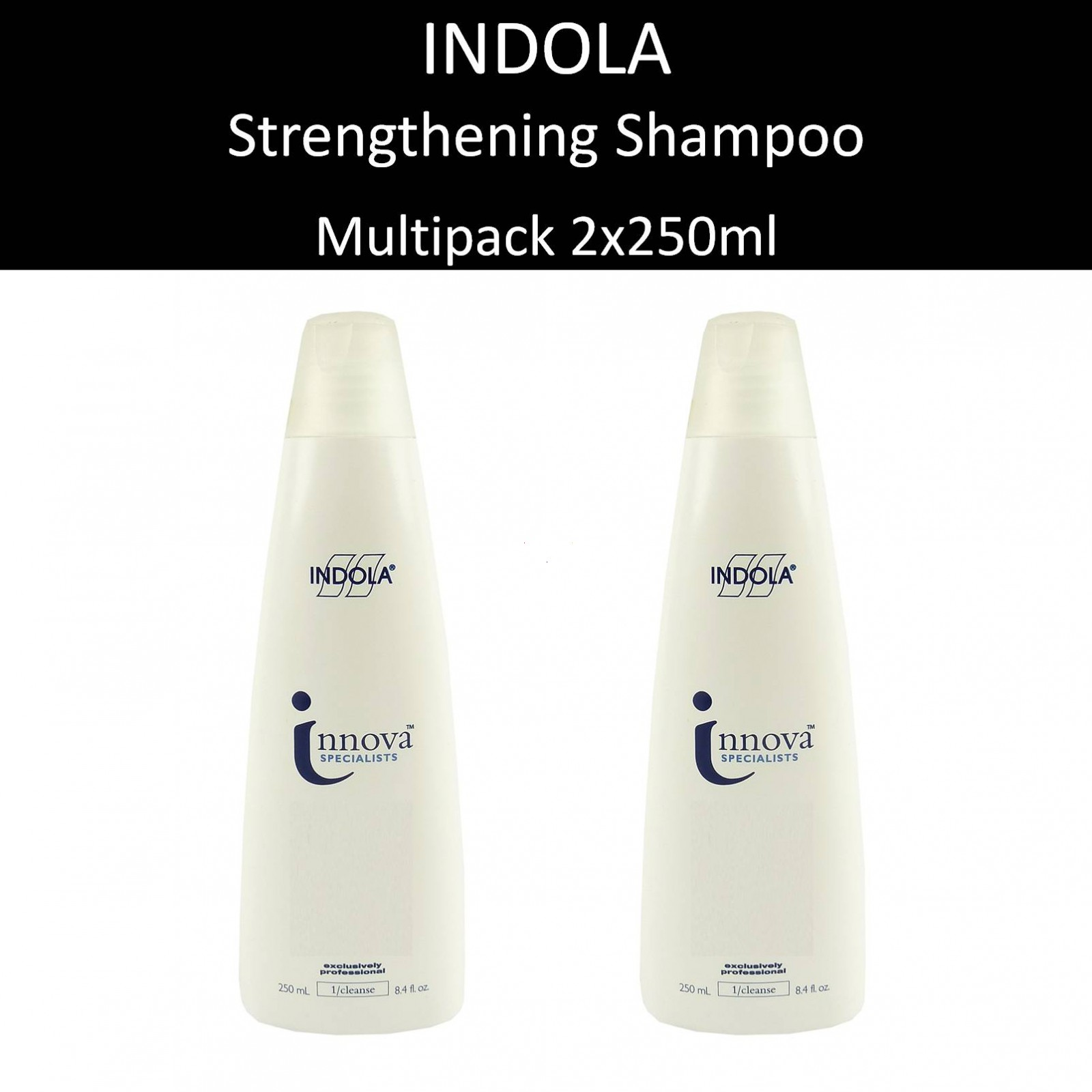 Indola - Innova Strengthening Shampoo kräftigend Haar Pflege Multipack 2x250ml