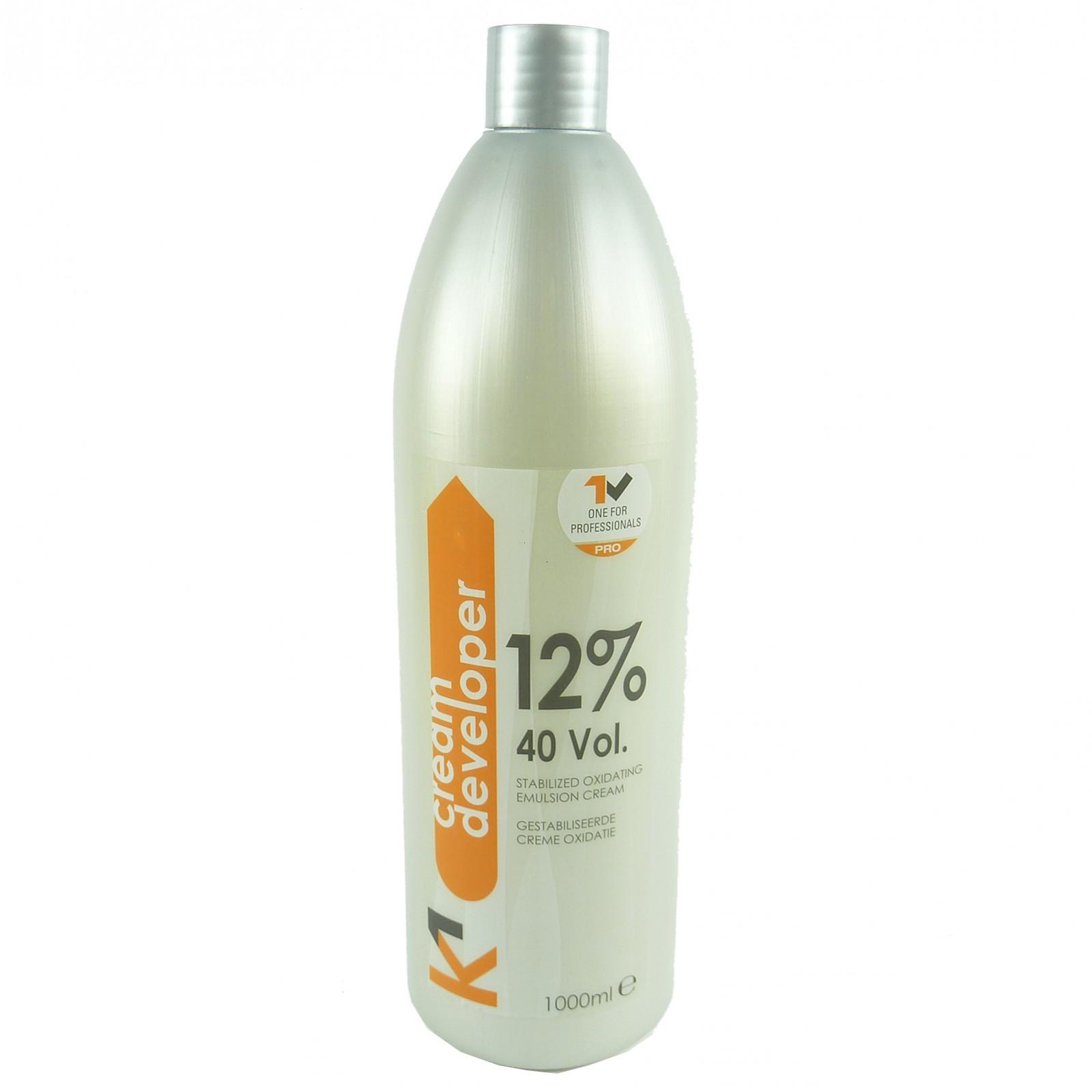 K1 Cream Developer 12- 40 Volume - Stabilised Oxidating Emulsion Cream - 1000ml