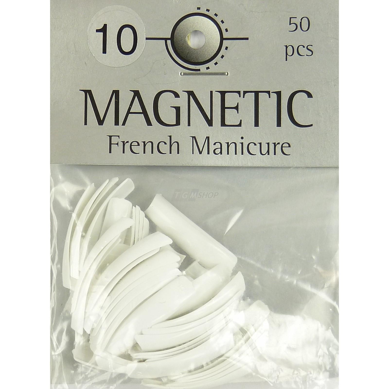 Magnetic - Nail Tips -French Manicure Grösse 10 - Kunstfingernägel - 50 Stück
