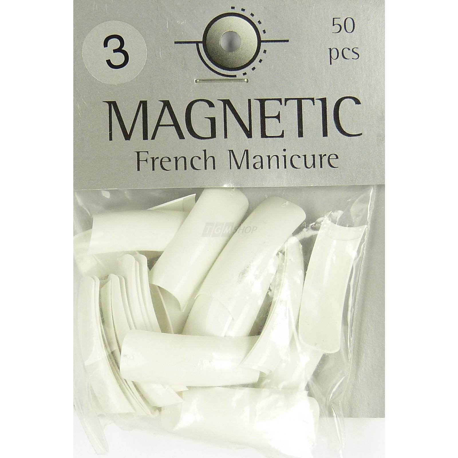 Magnetic - Nail Tips -French Manicure Grösse 3 -  Kunstfingernägel - 50 Stück