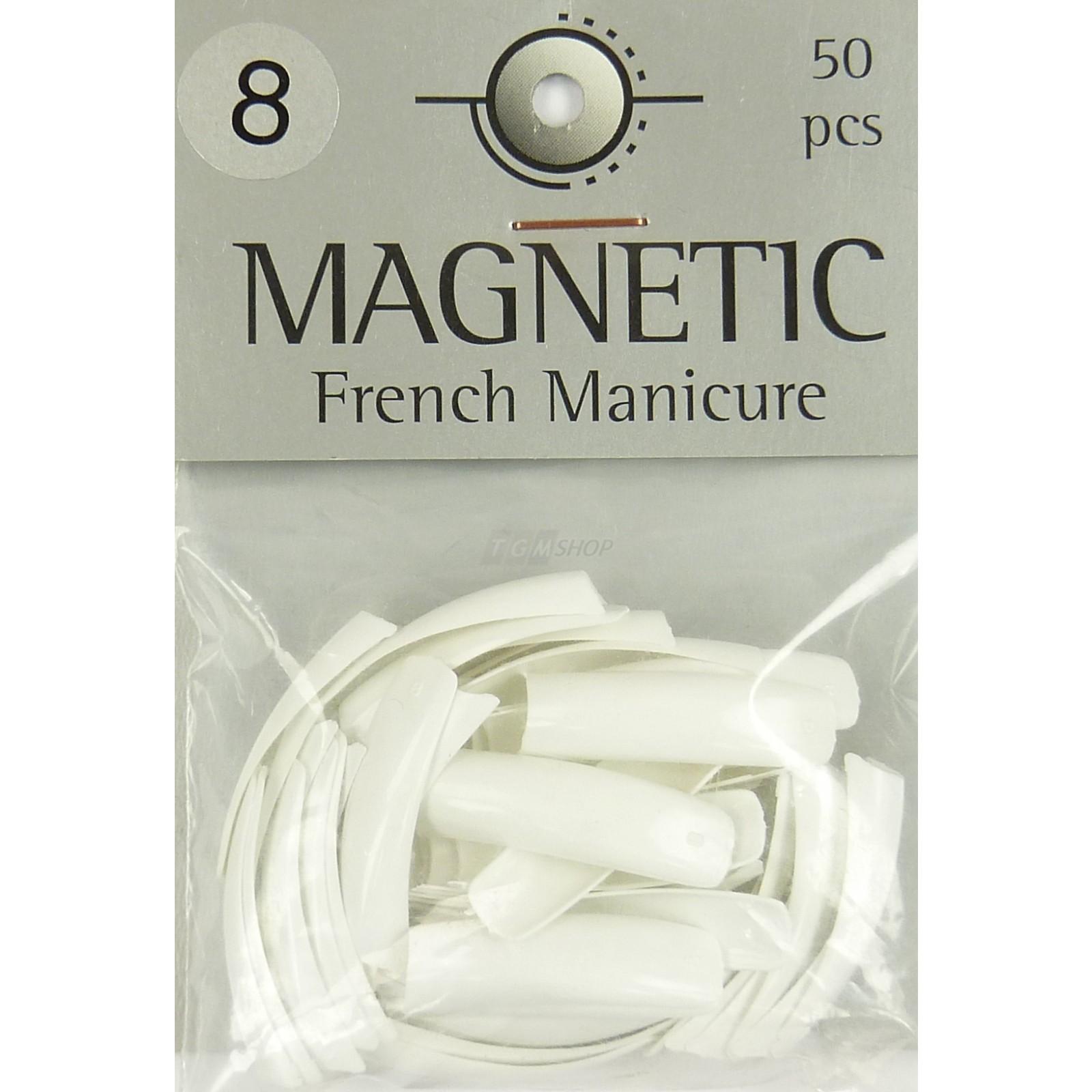 Magnetic - Nail Tips -French Manicure Grösse 8 -  Kunstfingernägel - 50 Stück