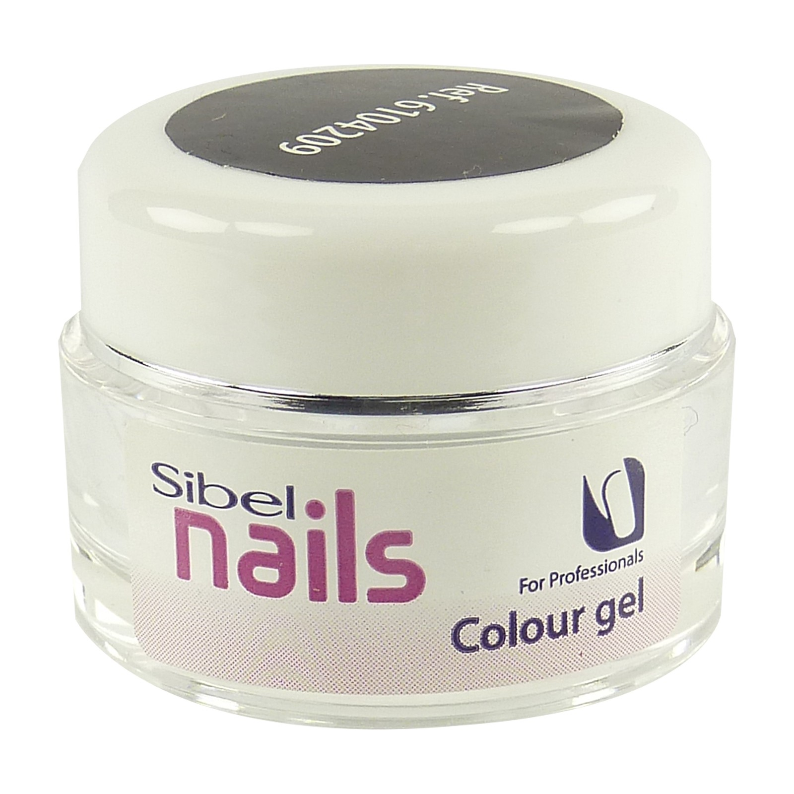 Sibel Nails Colour gel black Maniküre Nail Art Nagel Pflege Farbe schwarz 5ml